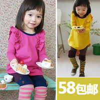 free shipping Female child autumn 2013 child set winter female spring cotton