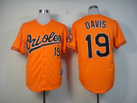 HOT 19# Chris Davis orange jerseys Baltimore Orioles Baseball Jersey Embroidery logos cool base Mix Order Size 48-56-NF