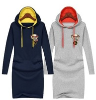 Free Shipping 2013 New Fashion Lady Korean Winter Women Hoodies Outerwear