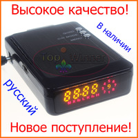 100% Orignal High Quality Car Radar Detectors Russian Language Easily On/Off X,Ku,K,Ka,Laser Radar Bands Free Drop Shipping!