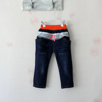 Free Shipping 2013 autumn female child denim jeans trousers 82008
