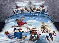 New Beautiful 4PC 100% Cotton Comforter Duvet Doona Cover Sets FULL / QUEEN / KING SIZE bedding set cartoon pirates caribbean