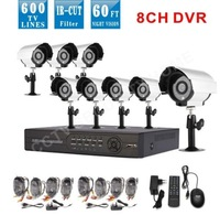 8channel IR Weatherproof Surveillance CCTV Camera 600tvl system Home Security camera cctv system network DVR kit