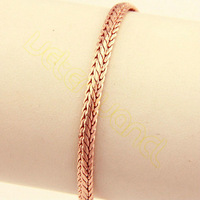 Free Shipping New Fashion Snake Chain Bracelet Men Women Exquisite 4mm 19.9cm  Rose Gold Filled Bracelet ML34