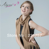 Free Shipping Fashion Alyzee Spring autumn & winter women's warm long scarve & wrap thermal solid color woolen yarn scarf shawls