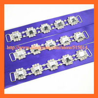 Free Shipping !100pcs/lot 14cm Fashion Square Crystal Bikini Rhinestone Connector ,Swimmer Suit Buckle