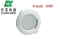Wholesale 175V-265V input 8 inch 24W LED downlight lamp Antifog Bathroom Recessed Ceiling Down Light lamps 100pcs/lot