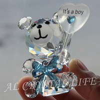 free shipping crystal bear design baby favors wedding giveaway gift wedding gifts crystal gift