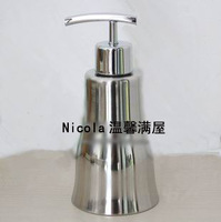 Stainless steel bottle soap bottle bath liquid bottle hand sanitizer bottle big wave of light
