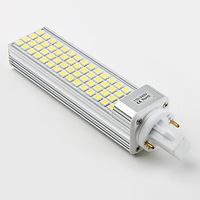 15W 5050 LED Light 60 LED PL Corn Bulb for home Lamp G24 E27 G23 1050LM Cool Warm White 85V-265V 220V 110V High Power 100PCS