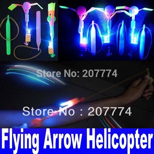 New Arrival Novelty Children Toy LED Flier Flyer LED Flying Amazing arrow helicopter Flying Umbrella Kids toys Free Shipping(China (Mainland))