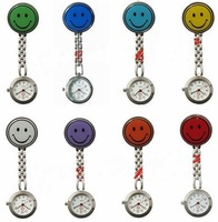 Free shipping Smile face nurse watches 8 colors available alloy nurse watches hospital nurse watches drop shipping retail
