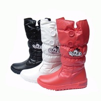 Free Shipping Female child thermal thickening wool snow boots cotton boots barreled boots 33 - 38