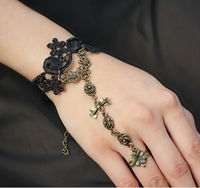 Handmade quality black lace bracelets & bangles fashion jewelry DIY gift women Gothic accessories girl party jewelry