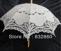 10pcs/lot free shipping wedding umbrella,  lace  parasol  with  exquisite style