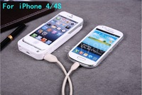 4200mAh External Backup Battery Charger Power Bank Case Cover For iPhone 4 4S