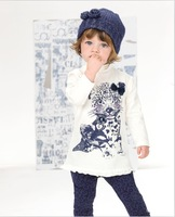 Autumn Children Suit Kids Clothes Set Leopard Long Sleeve T shirt + Leggings 2pcs Girls Casual Sets 1-5Year Retail