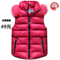 2013 fashion Stand collar Cotton vest down vest Women outerwear vest