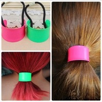 s fashion hair accessory headband hair rope hair accessory neon color metal paint 1885