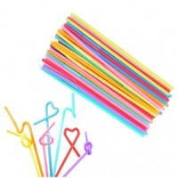 Art straw multicolour art straw plumbing hose shape art straw