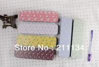 Free Shipping!! Hot! 12 pcs / Lot, Flower Miss Hand Push Box / Tin Pencil Case / Pencil Case / Tin Pencil Box