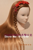 Free shipping!blonde Hairdressing Manikin head with hair  cosmetology Mannequin Training Head with clamp holder