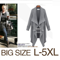 2013 autumn and winter sweater big plus size clothing fashion casual cardigan long-sleeve thick medium-long sweater outerwear