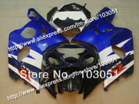 7 gifts bodywork for SUZUKI 2004 GSXR 750 fairing K4 2005 GSXR 600 fairings 04 05 glossy dark blue white DB99