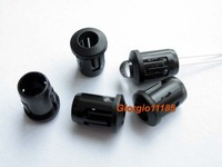 100pcs 5mm Black Plastic LED Holders Case Cup Mounting