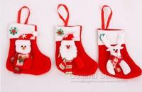 10pcs/lot Christmas Stocking,Xmas Socking,Santa Claus Sock,Christmas Gifts,Snowman and Santa and Reindeer Pattern GT237