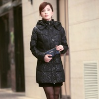 female down coat medium-long down plus size mother clothing winter outerwear down jacket Down and Parkas