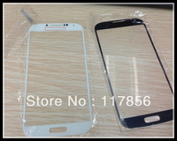 For samsung Galaxy S4 i9500 front glass lens Outer Digitizer screen Cover Replacement Repair Parts black white DHL ship