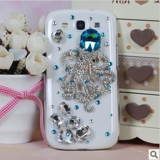 Luxury Fashion Diamond for Samsung i9300 mobile phone case Octopus for Sansung S3 Case Capa Celular Free Shipping