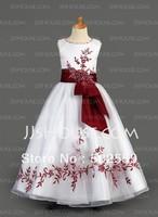 FG-012 Free shipping  New Arrival Tank flower girl dress