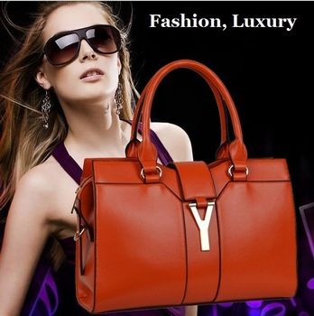 Prmotion 2013 Fashion High Quality Real Genuine Leather Y Brand Designer Satchel Handbags Tote Bag Purse for Women Free Shipping