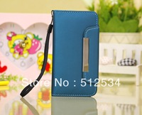 50pcs/lot&Free New Matte PU Wallet Pouch Leather Case For iphone 5C