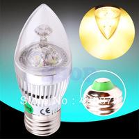 2pcs 6W 3x2W Warm White,White E27 Home Candle Bulb LED Light Lamp 85-265V 110V 220V 230V