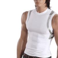 Energy sports T-shirt tight-fitting sleeveless shirt male straitest basketball football fitness running athletic training