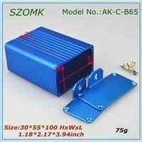 10 pieces a lot 30*55*72 mm  aluminum box housing amplifier power housing