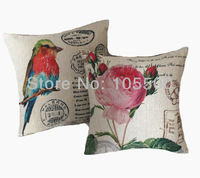 Free shipping Polyester/Cotton Imitated Linen Fabric Digital Print Cushion Cover HT-PCILPC-B