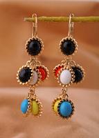 Fashion national fashion trend multicolour pendant earring earrings