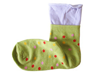 Socks 100% cotton material multicolour dot decoration loose the mouth of autumn and winter socks