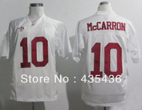 Alabama Crimson Tide #10 A. J. McCarron Red/White Football Jerseys, Double stitch jerseys Free shipping mix order