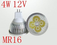 MR16 LED Lamp 4W Spot lighting DC 12V Jewelry display bulbs decorating lamp High Power Warm Cold white Free Shipping 5pcs/lot