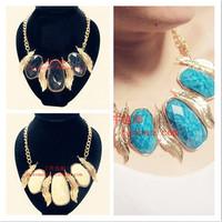 Acrylic big gem necklace fashion accessories female