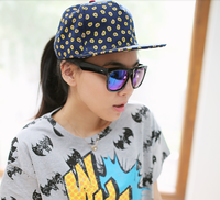 Hot-selling new 2013 street general baseball cap  flat-brimmed hat colorpoint hiphop cap