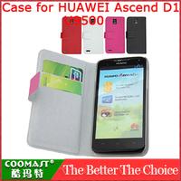 COOMAST Leather Case for HUAWEI Ascend D1(U9500) New Arrivel mobile  Slip shockproof Popular brands and Dirt-resistant case