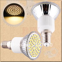 5pcs E14 Warm White 60 SMD 180V - 240V Screw Spotlight 220V 230V 60 LED Light Bulb Lamp