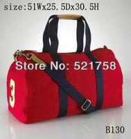 Original Brand-LOGO High Quality Women's Sports Canvas Bag Female Casual polo Handbag red,green,blue Free Shipping