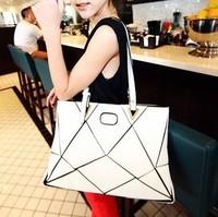 2014  Free shipping + hot sell  Summer autumn individuality mosaic cube single shoulder bag patchwork woman handbag